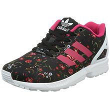 adidas ZX Flux, Damen Sneakers, Schwarz (Core Black/Vivid Berry S14/Ftwr White), 36 2/3 EU (4 Damen UK)