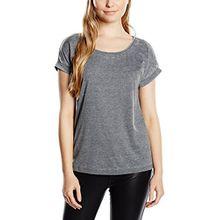 ONLY Damen T-Shirt onlTRULY SS O - Neck Top NOOS, Einfarbig, Gr. 36 (Herstellergröße: S), Grau (Black)