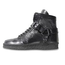 Diesel Black Gold Damen Hi HIgh Top Leder Sneaker Schuhe Stiefel (EU 38 / US 7 1/2)