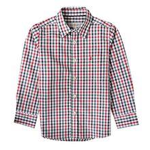 Almsach Trachtenhemd Domi für Kinder mehrfarbig in Rot und Dunkelgrün inklusive Volksfestfinder, Farbe:Mehrfarbig, Größe:152/158