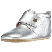 Bisgaard Unisex Baby Velcro Star Pantoffeln, Silber (01 Silver), 25 EU