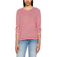 Hilfiger Denim Damen Pullover Thdw Basic Strp CN Sweater L/S 13, Rot (Lipstick Red/Snow White 903), Small