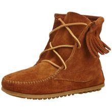 Minnetonka Ankle Hi Tramper Boot 2422, Unisex-Kinder Slipper, Braun (Brown), EU 25/26 (US 8)