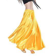 YouPue Damen Tanzkostüm Bauchtanz-Kostüm sexy High-End-Dual Rock Bauchtanz Leistungen große Rock Komfort (nicht enthalten Gürtel) Gürtel Kostüme Bauchtanz Taille Kette Gelb