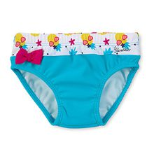 Sterntaler Kinder Mädchen Badehose, UV-Schutz 50+, Alter: 3-4 Jahre, Größe: 98/104, Türkis/Weiß