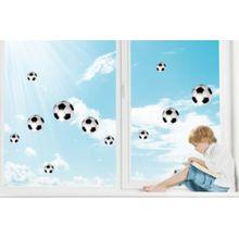 Fenster Sticker Fußbälle, 11-tlg. mehrfarbig