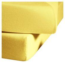 fleuresse L-001117-2006-0400 Spannbettlaken - Comfort 150 x 200 cm gelb