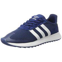 adidas Damen Flashback Sneaker, Blau (Mystery Blue/Footwear White/Mystery Blue), 39 1/3 EU