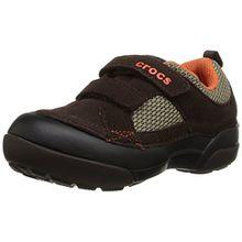 crocs Dawson Hook & Loop, Unisex-Kinder Low-Top Sneaker, Braun (Espresso/Black 23K), 23/24 EU