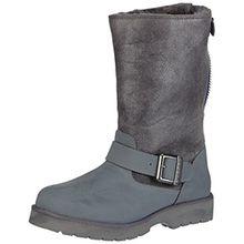 Buffalo 12844 ACTION NUBUCK HEDOSA, Damen Biker Boots, Grau (GREY299), 37 EU