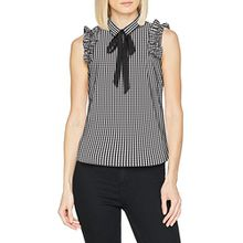 comma Damen Bluse 81.803.13.4593, Mehrfarbig (Grey/Black Check 99n5), 40