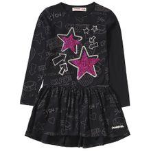 Desigual Kleid pink / schwarz / weiß