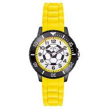 S.OLIVER Kinder Armbanduhr Fußball gelb Jungen Kinder