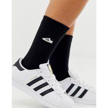 adidas Originals - Superstar - Schwarze Socken mit Stickerei - Schwarz