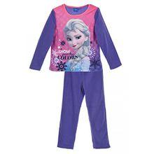 Disney Frozen Anna Elsa Kinder Winter Polar Fleece Pyjamas / Nachtwäsche (Lila , 5 Jahre)