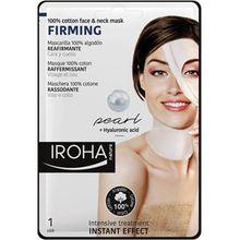 Iroha Pflege Gesichtspflege Firming 100% Cotton Face & Neck Mask 30 ml