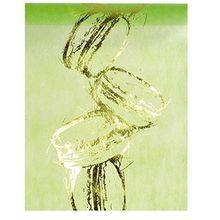 """Tischläufer apfelgrün """"Vlies Ringe"""" 30cm x 5m- Dekostoff - Dekoration - Tischband - 3610"""