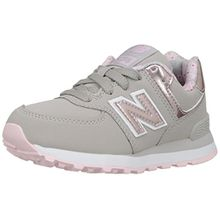 New Balance Unisex Kinder Kl574 Lauflernschuhe Sneakers, Multicolor (Grey/Pink), 22 EU