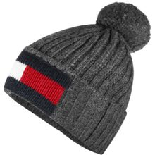 Tommy Jeans Beanie Big Flag in stylischem Design grau