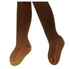 Kinderstrumpfhose 100% Baumwolle uni viele Farben, Farben alle:mittelbraun;Größe:122/128
