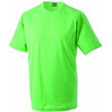 James & Nicholson Jungen T-Shirt Junior Basic Rundhals, Gr. X-Small (Herstellergröße: XS (98/104)), Grün (lime-green)