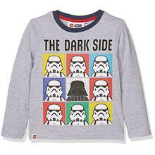 Lego Star Wars Jungen T-Shirt 161403, Blau (Jeansblau), 8 Jahre (Hersteller Größe: 8 Jahres)
