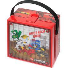 LEGO Brotdose mit Griff Ninjago, rot