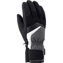 ZIENER Handschuhe 'Gabino' dunkelgrau / schwarz / weiß