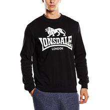 Lonsdale Herren Sweatshirt Men Crewneck Sweatshirt Gosport schwarz (Schwarz) Small