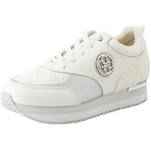 Guess Damen Footwear Dress Active Sneaker, Wei (White White), 35 EU