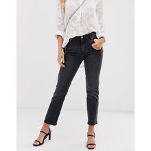 Mango - Bequeme Stretch-Jeans in Grau mit geradem Bein - Grau