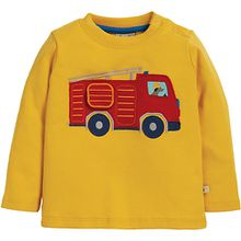 Baby Langarmshirt , interaktive Applikation, Organic Cotton gelb Jungen Kleinkinder