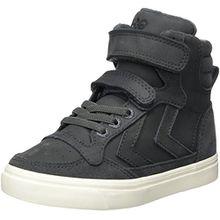 Hummel Unisex-Kinder Stadil Oiled High JR Hohe Sneaker, Grau (Asphalt), 26 EU