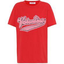 Verziertes T-Shirt aus Baumwolle