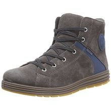 Ricosta Jan, Jungen Hohe Sneakers, Grau (Meteor/Pavone 464), 35 EU (2.5 Kinder UK)