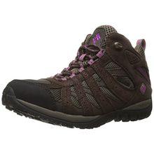 Columbia Damen Redmond Mid Waterproof Damen Trekking- & Wanderhalbschuhe, Braun (Mud/Intense Violet 256), 40.5 EU