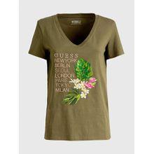 GUESS T-Shirt oliv / mischfarben