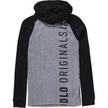 ODLO Funktionsshirt 'Warm Kids' graumeliert / schwarz
