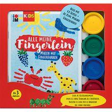 KIDS Malen mit Fingerfarben, Buch mit 4 x 35 ml Fingerfarbe