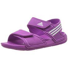 adidas Akwah 9, Unisex-Kinder Knöchelriemchen Sandalen, Pink (Flash Pink S15/Ftwr White/Flash Pink S15), 34 EU (2 UK)