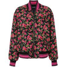 Dolce & Gabbana floral bomber jacket - Lila