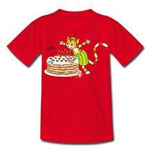 Spreadshirt Pettersson Und Findus Geburtstag Feiern Torte Kinder T-Shirt, 98/104 (3-4 Jahre), Rot