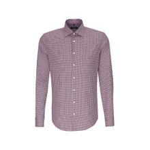 SEIDENSTICKER Hemd dunkelrot / weiß