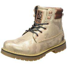 H.I.S Damen 16WE0009 Combat Boots, Gold (Gold Metallic), 39 EU