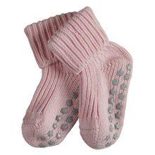 FALKE Unisex Baby Socken Cotton Catspads - Rosa (Powderrose), 80 (Herstellergröße: 80-92)