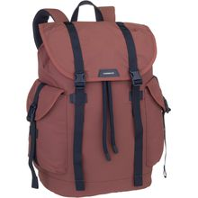 Sandqvist Rucksack / Daypack Charlie Backpack Maroon/Navy Leather (16 Liter)