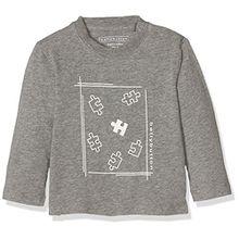 Bellybutton Kids Baby-Jungen Langarmshirts T-Shirt 1/1 Arm, Grau (Asphalt Melange|Gray 8882), 56