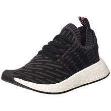 adidas Damen NMD_r2 Primeknit Sneaker Low Hals, Schwarz (Utility Black F16/Core Black/FTWR White), 38 2/3 EU