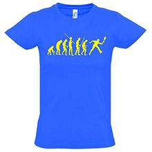 TENNIS Evolution Kinder T-Shirt blau-gelb, Gr.152cm