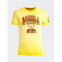 GUESS T-Shirt gelb / rot